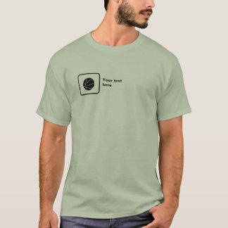 T-shirt Joueur de basket (petit logo) -- Personnalisable