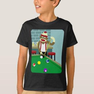 T-shirt Joueur de billards de piscine de singe de
