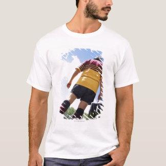 T-shirt Joueur de rugby sur la ligne de touche avec des