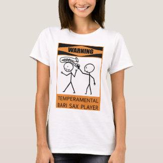 T-shirt Joueur de saxo capricieux d'avertissement de Bari