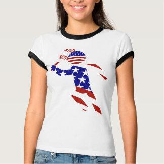 T-shirt Joueur de tennis cent pour cent américain des