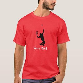 T-shirt Joueur de tennis ; Rouge