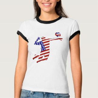 T-shirt Joueur de volleyball cent pour cent américain
