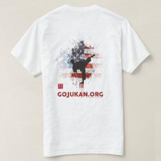 T-shirt Joueur grunge de drapeau de Kaizen Gojukan [blanc]
