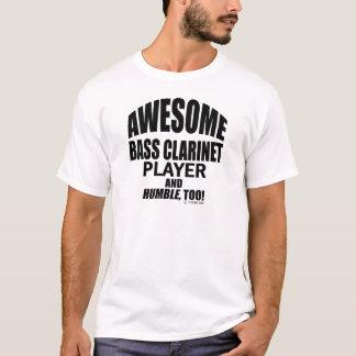 T-shirt Joueur impressionnant de clarinette basse