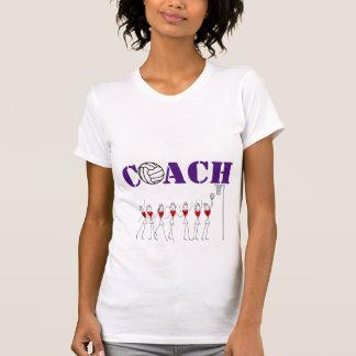 T-shirt Joueurs de coeur et entraîneur de net-ball de