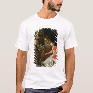 T-shirt Joueurs de Tric-trac avec Madame et son chien