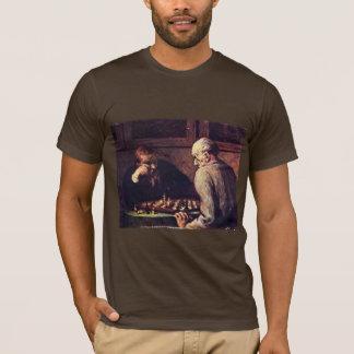 T-shirt Joueurs d'échecs par Daumier Honoré