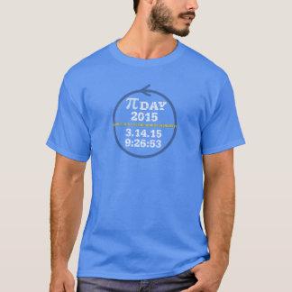 T-shirt Jour 2015 (T-shirt bleu) de pi