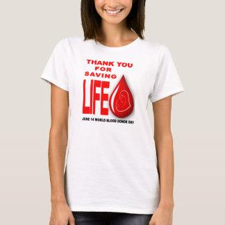 T-shirt jour de donneur de sang du monde