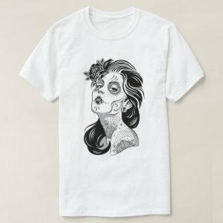 T-shirt Jour de fille sexy morte avec des roses