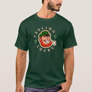 T-shirt Jour de la Saint Patrick chanceux se sentant de