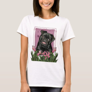 T-shirt Jour de mères - tulipes roses - carlin - Ruffy