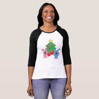 T-shirt Jour de Noël de Rollys - douille du raglan 3/4 des
