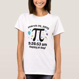 T-shirt Jour heureux de pi ! - 9h26 du jour de pi 2015 -