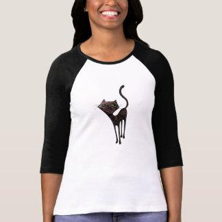 T-shirt Jour mexicain noir du chat mort