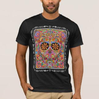 T-shirt Jour psychédélique de la chemise morte de crâne de