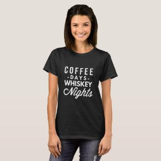 T-shirt Jours de café et nuits de whiskey