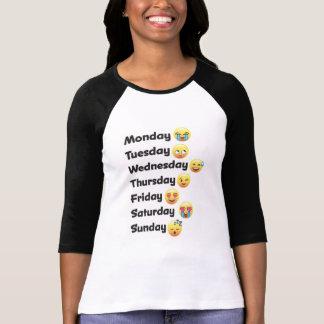 T-shirt Jours d'Emoji de la chemise de semaine