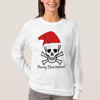 T-shirt Joyeux Noël Arrrgh de salutation de pirate drôle