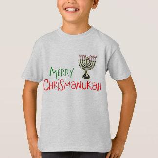 T-shirt Joyeux Noël Chanukah Menorah de Chrismanukah-