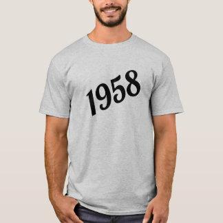 T-shirt Joyeux soixantième anniversaire 1958