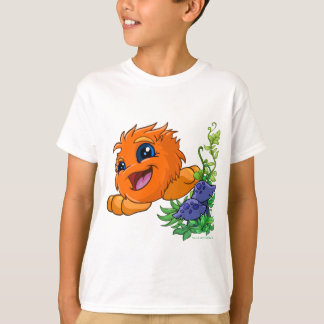 T-shirt JubJub orange heureux au central de Neopia