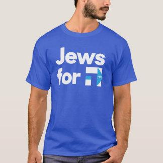 T-shirt Juifs pour la chemise hébreue bleue de H Hillary