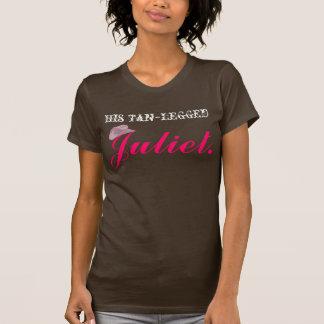T-shirt Juliet à jambes bronzage