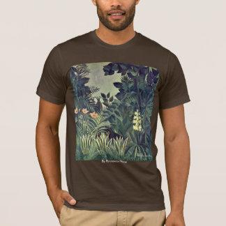 T-shirt Jungle sur l'équateur par Rousseau Henri