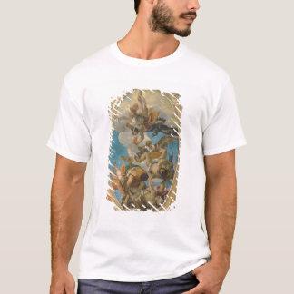 T-shirt Jupiter heurtant en bas des vices (huile sur la