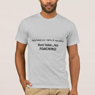 T-shirt juridique de chasse