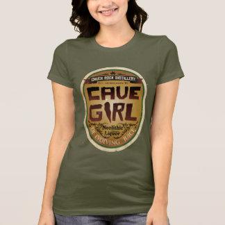T-shirt Jus De-en évolution de fille de caverne
