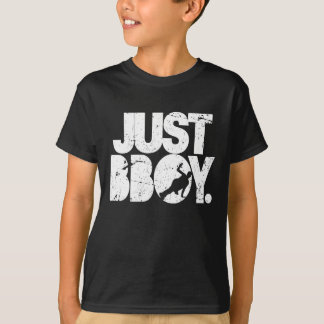T-shirt juste bboy - blanc affligé