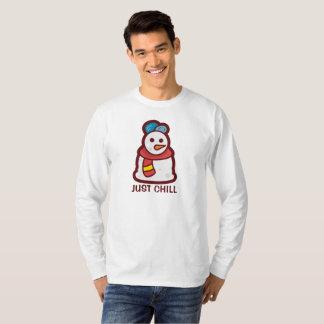 T-shirt Juste chemise froide drôle de douille du bonhomme