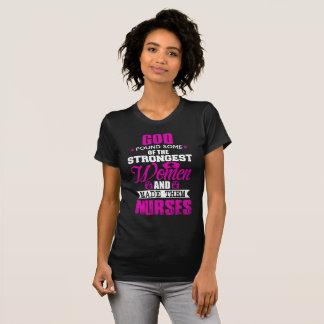T-shirt Juste God Created Nurses Women
