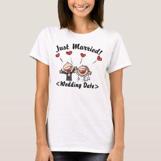 T-shirt Juste marié (type date de mariage)