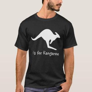 T-shirt K est pour le kangourou