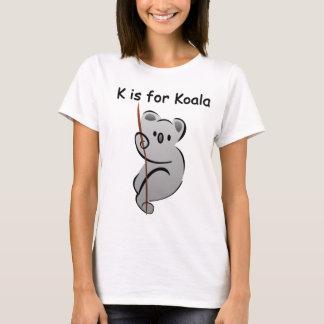 T-shirt K est pour le koala