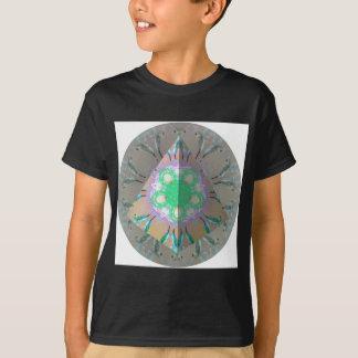 T-shirt Kaléidoscope 3d d'oiseau de ronflement de triangle