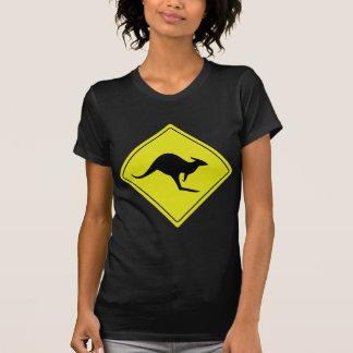 T-shirt kangourou australien australie de panneau routier