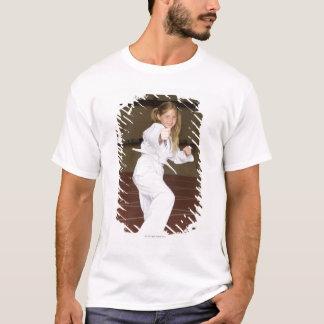 T-shirt Karaté de pratique de fille