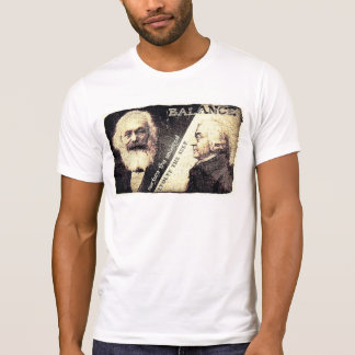 T-shirt Karl Marx v Adam Smith, le zen de - les mots