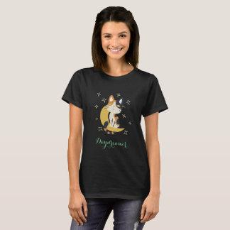 T-shirt kawaii on moon shirt cat