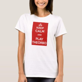T-shirt Keep Calm and Play Theorbo