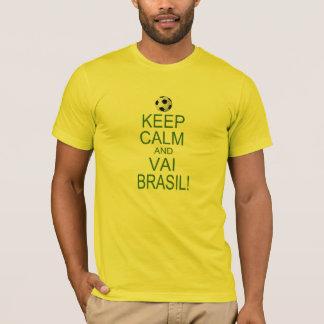 T-shirt keep Calm and Vai Brésil !