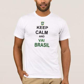 T-shirt Keep calm va Brésil