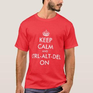 T-shirt Keepcalm et CTRL sur le tee - shirt