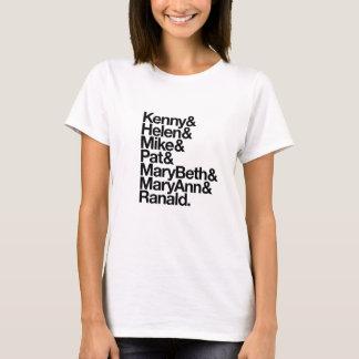 T-shirt Kenny&Helen&Mike&Pat&MB&MA&Ranald. (le blanc des