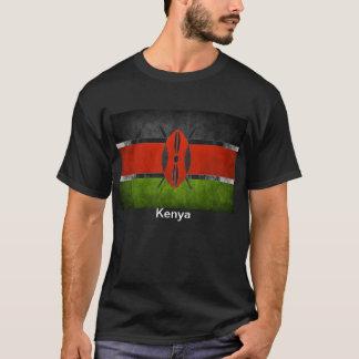 T-shirt kenyan de drapeau de la qualité des hommes
